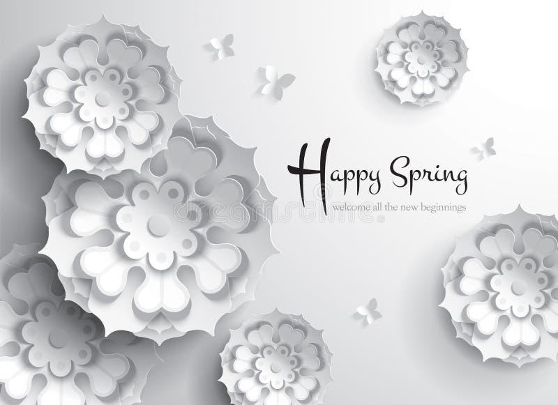 счастливая весна Добро пожаловать все новые начала бесплатная иллюстрация