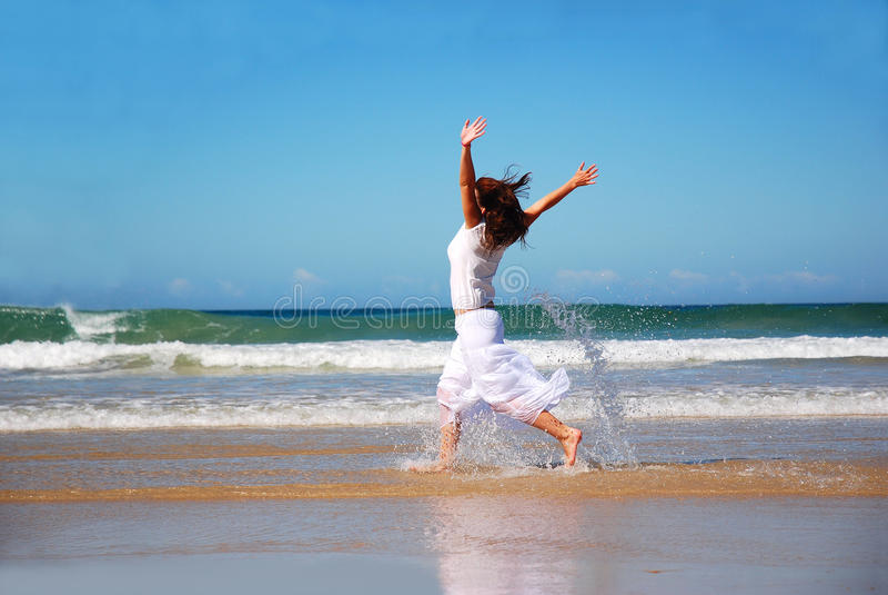Счастливая женщина праздника стоковое фото rf
