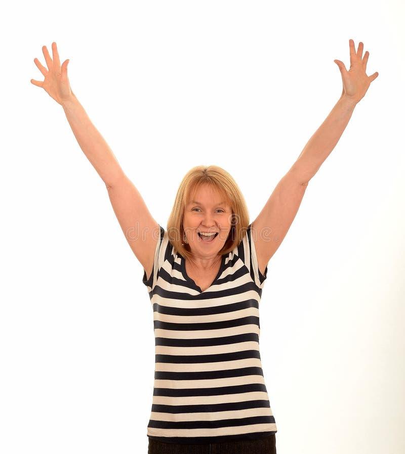 Счастливая женщина стоковая фотография rf