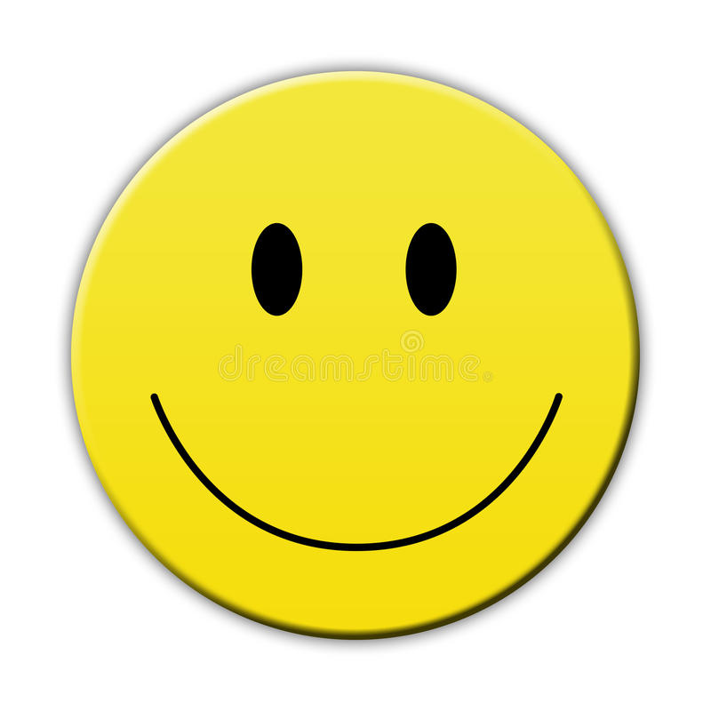Счастливая желтая сторона улыбки иллюстрация штока