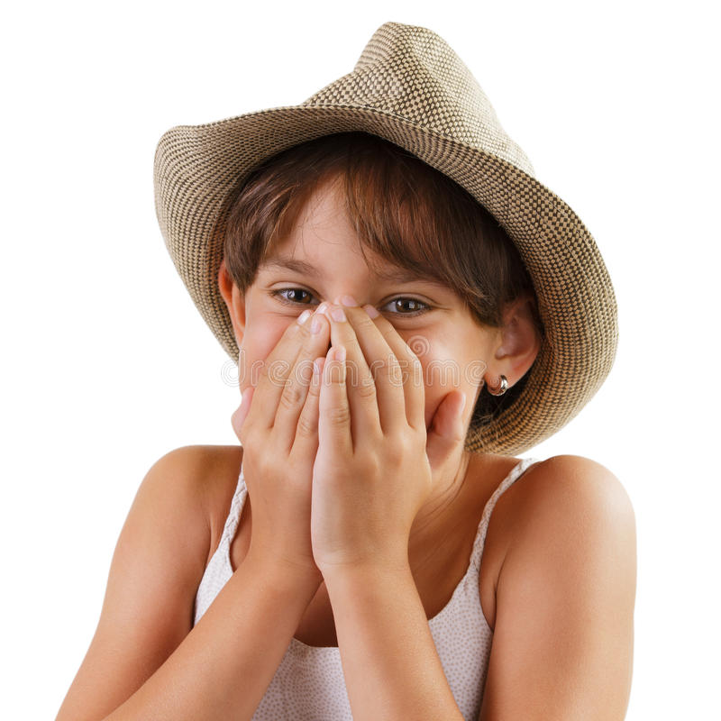 Счастливая жизнерадостная маленькая девочка стоковое изображение