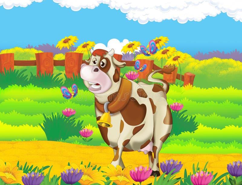 Жизнь на ферме - иллюстрация для детей иллюстрация штока