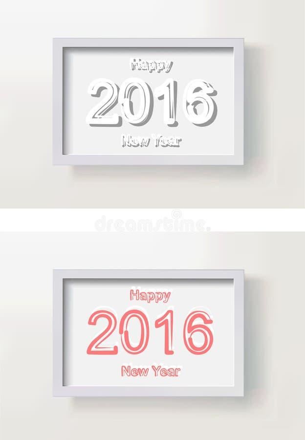 Счастливая картинная рамка Нового Года иллюстрация вектора
