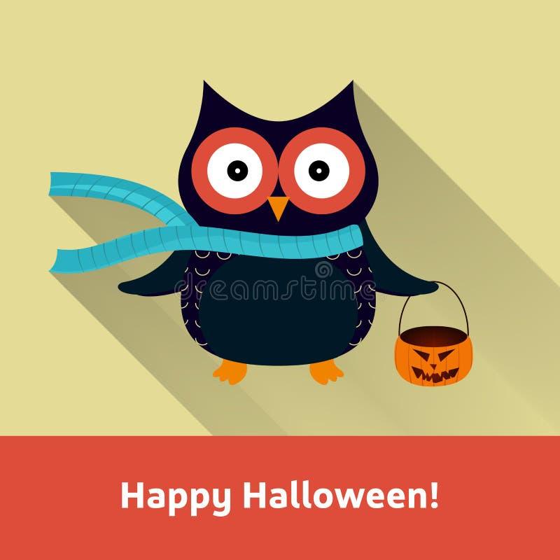 Счастливая карточка вектора хеллоуина бесплатная иллюстрация