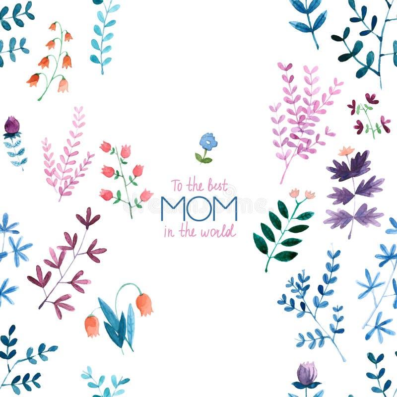 Счастливая карточка дня ` s матери - иллюстрация иллюстрация штока