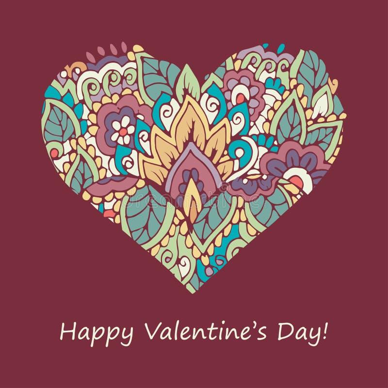 Счастливая карточка поздравлениям дня валентинок иллюстрация вектора
