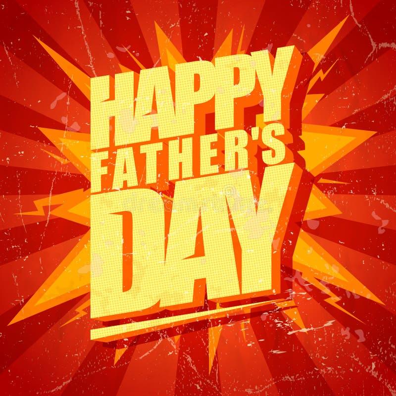 Счастливая карточка шипучк-искусства дня отцов типографская бесплатная иллюстрация