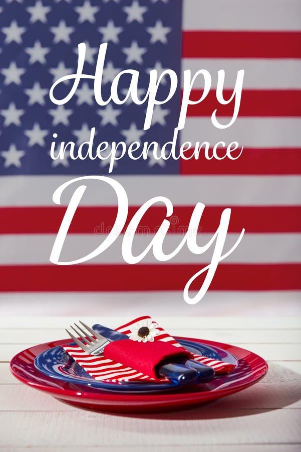 Счастливая концепция обедающего Дня независимости стоковые фотографии rf