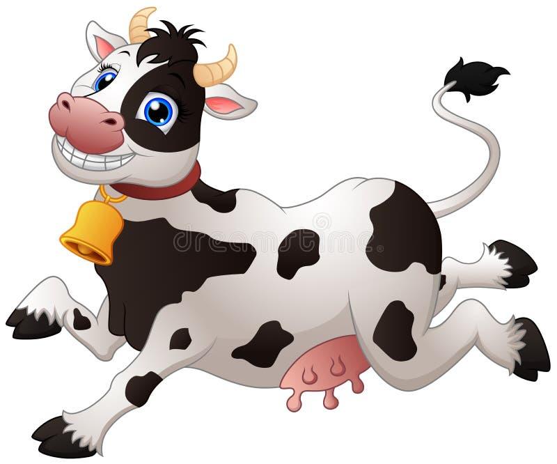Счастливая корова шаржа иллюстрация штока