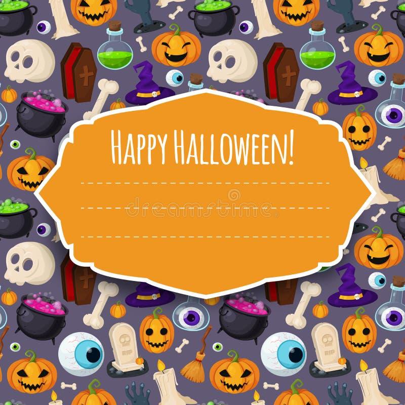 Счастливая крышка хеллоуина для вашего дизайна иллюстрация штока