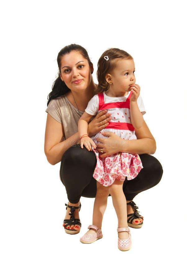 Счастливая мама с ее дочерью стоковое изображение rf