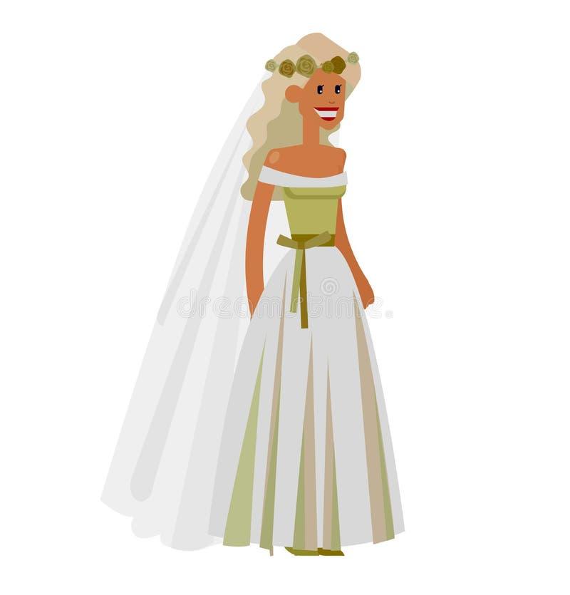 Счастливая невеста свадьбы иллюстрация штока