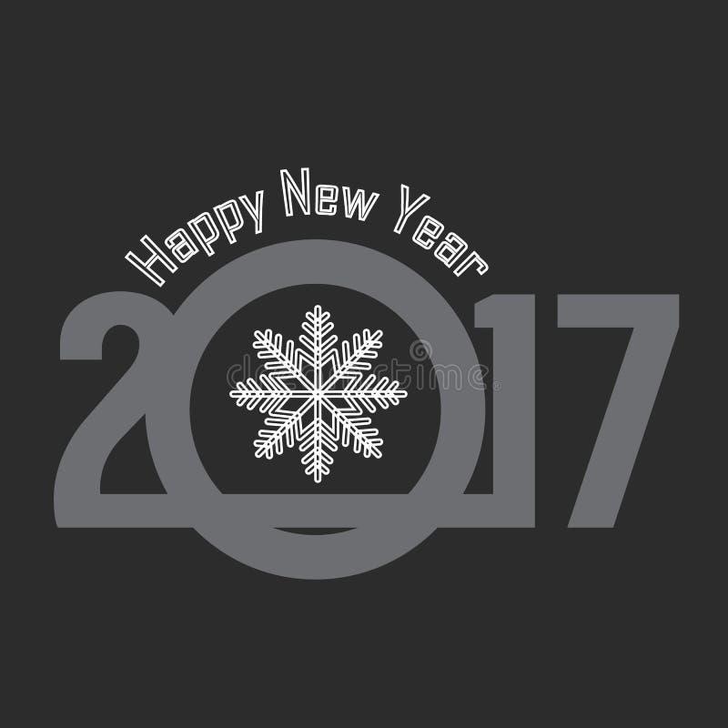 Счастливая Нового Года поздравительная открытка 2017 иллюстрация штока