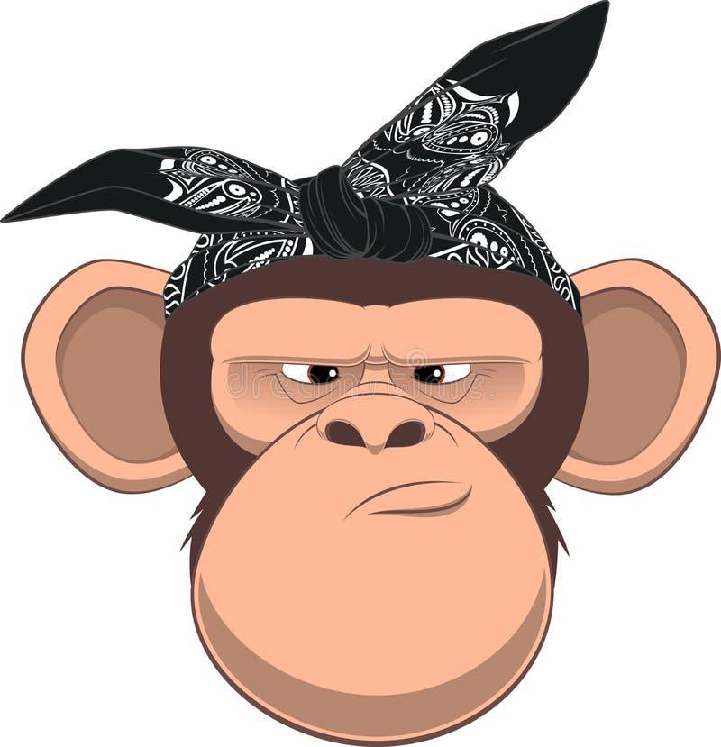 счастливая обезьяна иллюстрация вектора