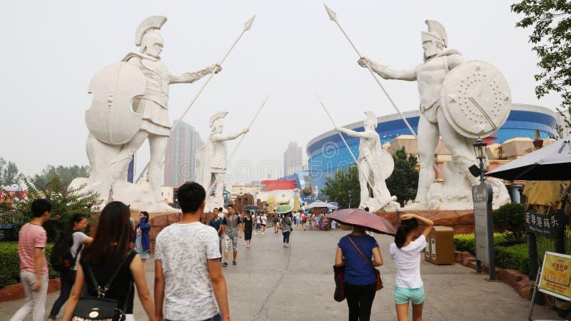 Счастливая долина Пекин парк атракционов стоковые фото