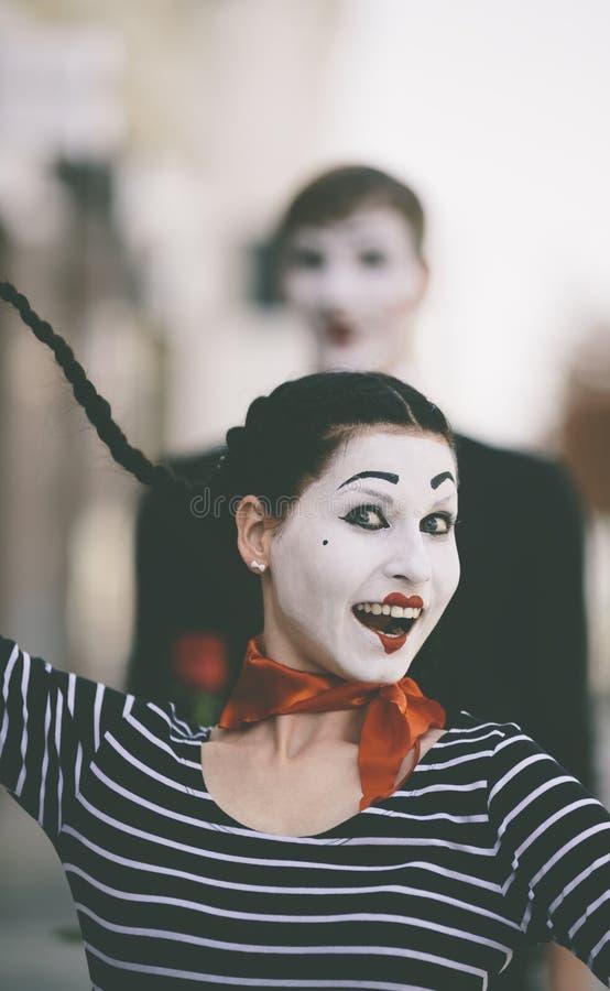 Счастливая пантомима стоковые изображения