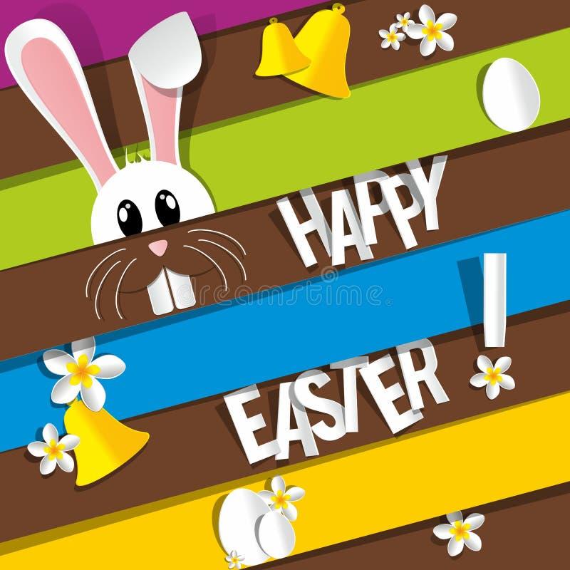 Download Счастливая поздравительная открытка пасхи Иллюстрация вектора - иллюстрации насчитывающей декоративно, купель: 40578875