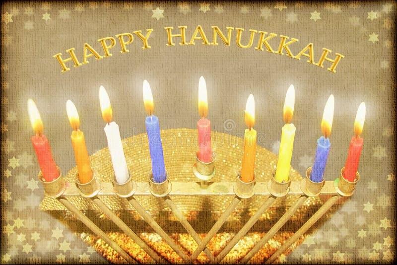 Счастливая поздравительная открытка Хануки