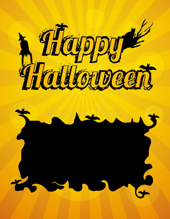 Download Счастливая поздравительная открытка хеллоуина Иллюстрация вектора - иллюстрации насчитывающей праздник, иллюстрация: 33725186