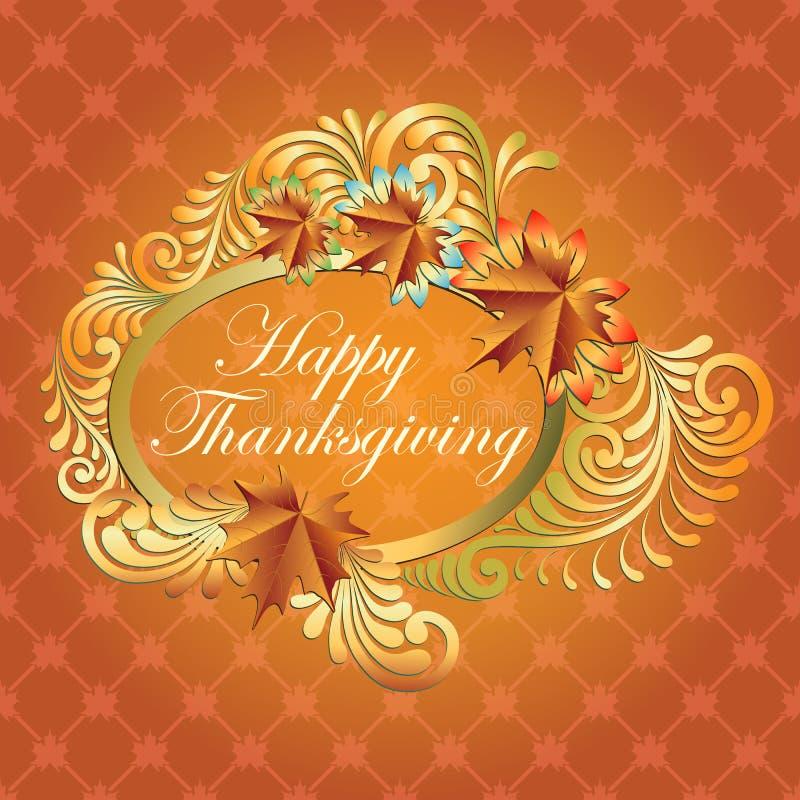 Счастливая предпосылка благодарения с кленовым листом