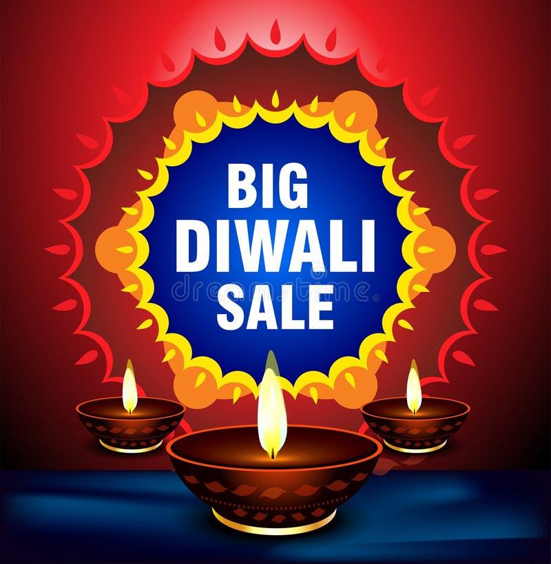 Счастливая предпосылка продажи предложения diwali бесплатная иллюстрация