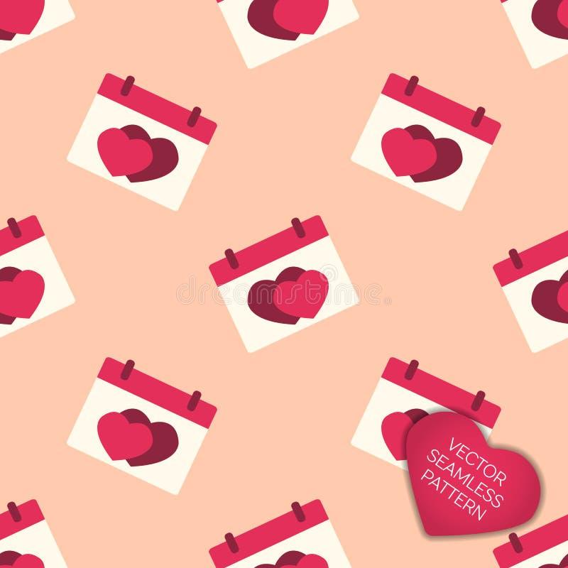 Счастливая предпосылка собрания дня валентинок иллюстрация штока