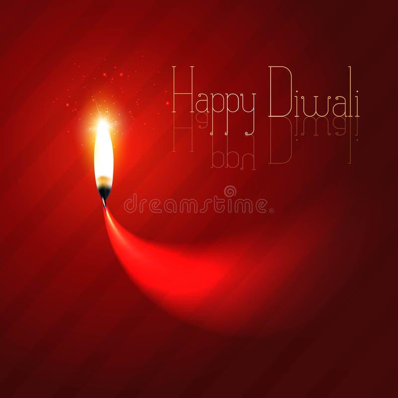 Счастливая предпосылка торжества diya diwali иллюстрация вектора