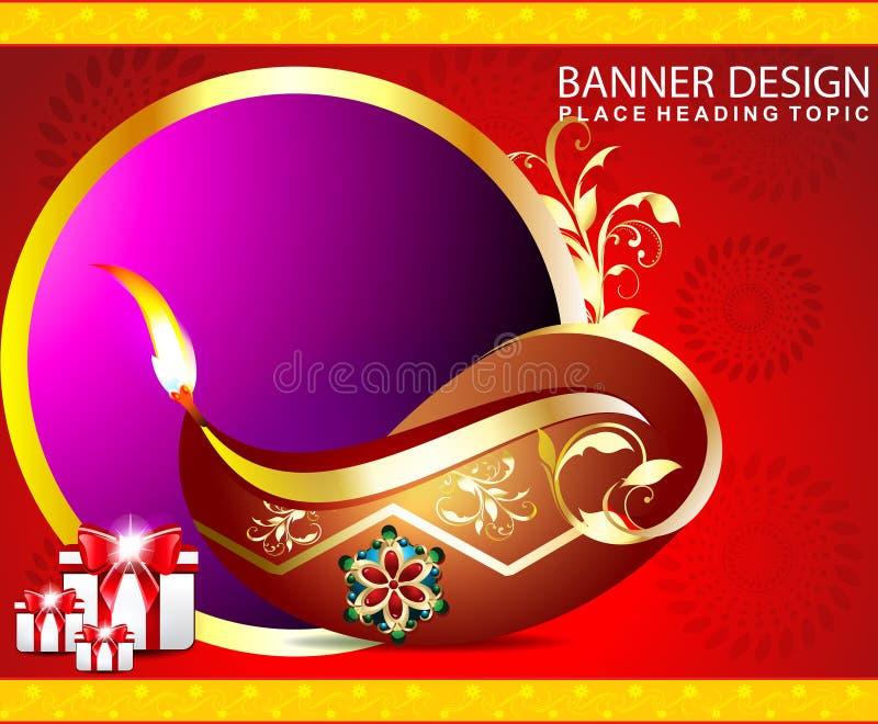 Счастливая предпосылка diwali с подарками бесплатная иллюстрация