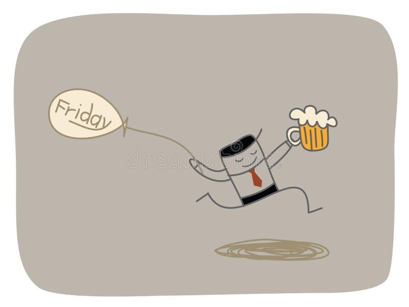 Счастливая пятница иллюстрация вектора