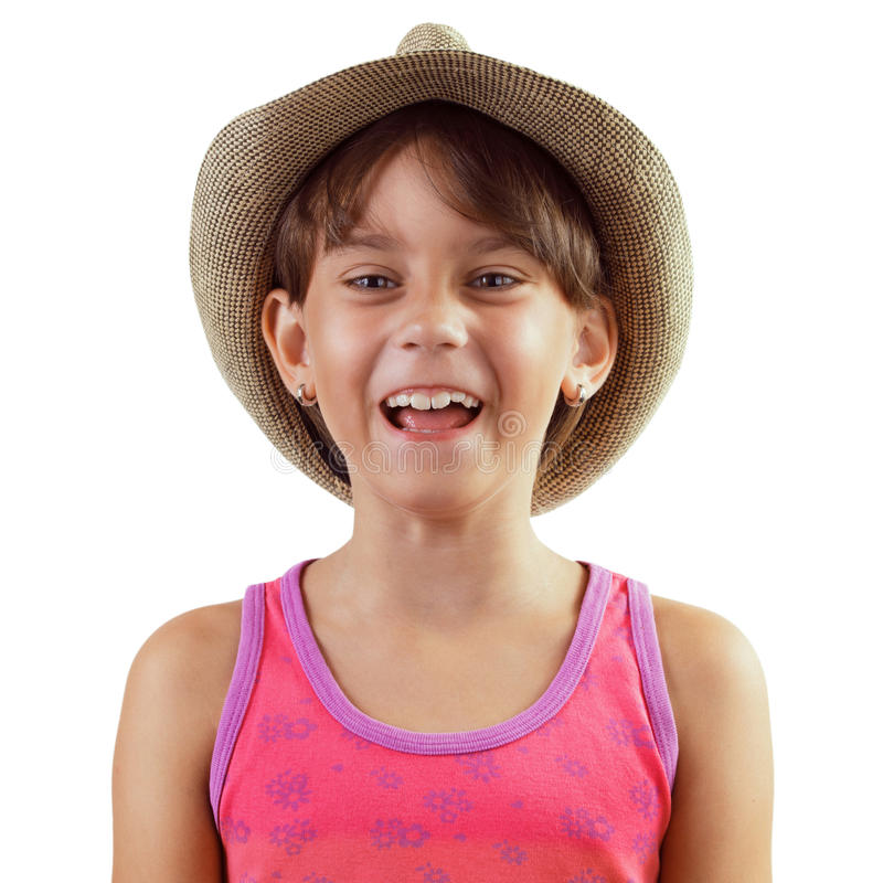 Счастливая смеясь над девушка стоковая фотография rf
