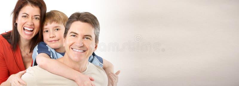 Счастливая смеясь над семья стоковая фотография rf