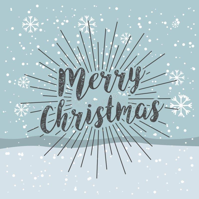 счастливая с Рождеством Христовым предпосылка снежинки иллюстрация вектора
