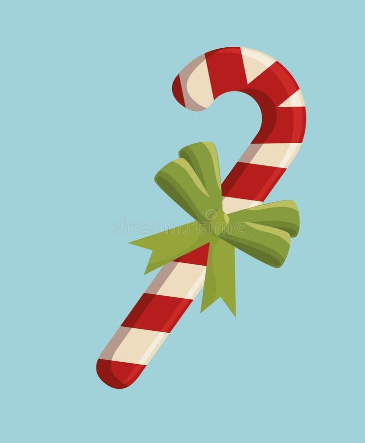 счастливая с Рождеством Христовым чонсервная банка помадки иллюстрация вектора
