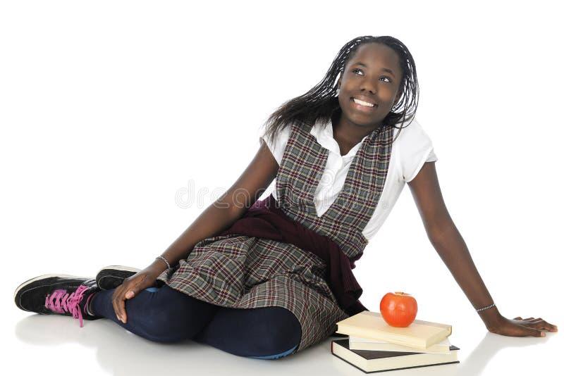 Счастливая школьница твена стоковые фото