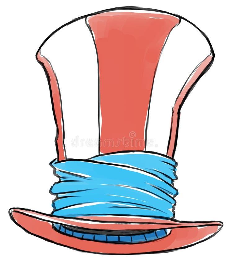 Счастливая шляпа иллюстрация штока