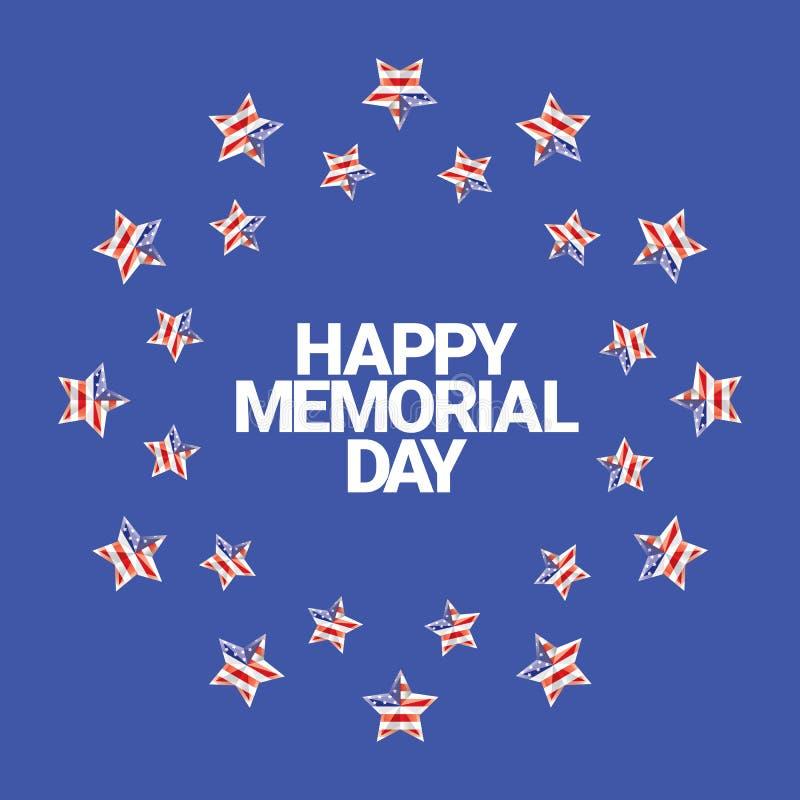 Счастливое знамя Дня памяти погибших в войнах Карточка Дня памяти погибших в войнах иллюстрация штока