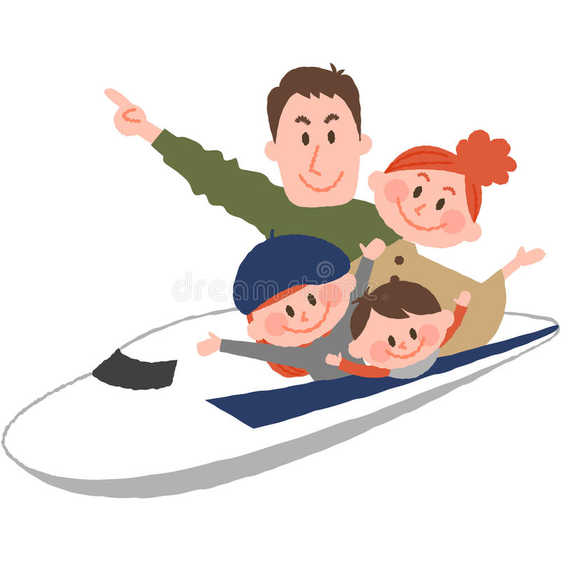 Счастливое отключение семьи иллюстрация штока