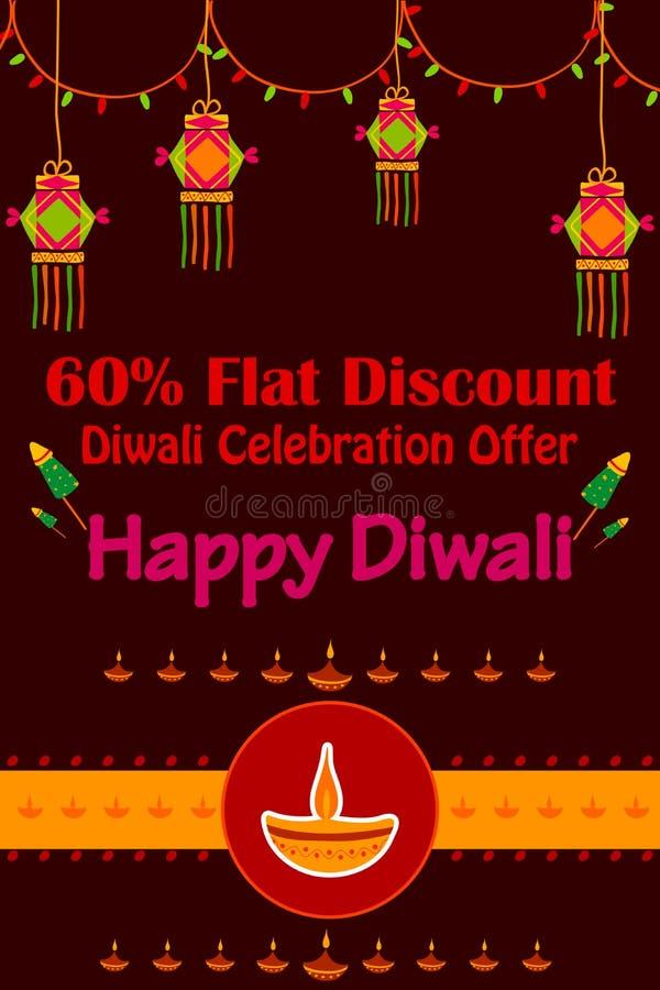 Счастливое продвижение продажи скидки Diwali иллюстрация штока