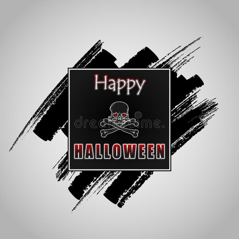 Счастливое сообщение хеллоуина на grunge, текстуре щетки бесплатная иллюстрация