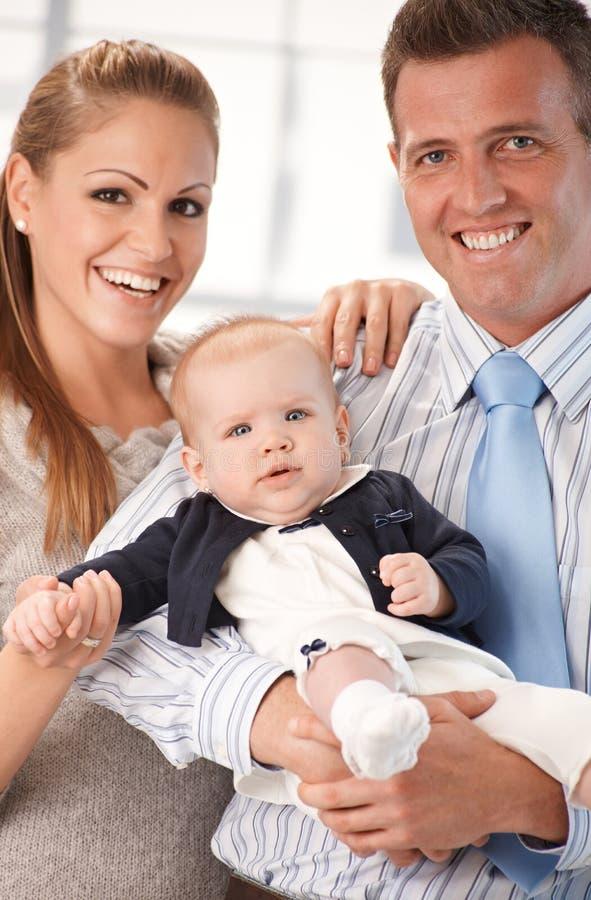 Счастливое фото семьи стоковые фото