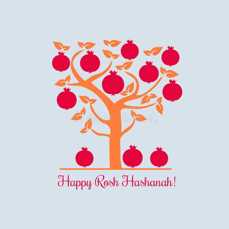 Счастливое Rosh Hashana иллюстрация штока