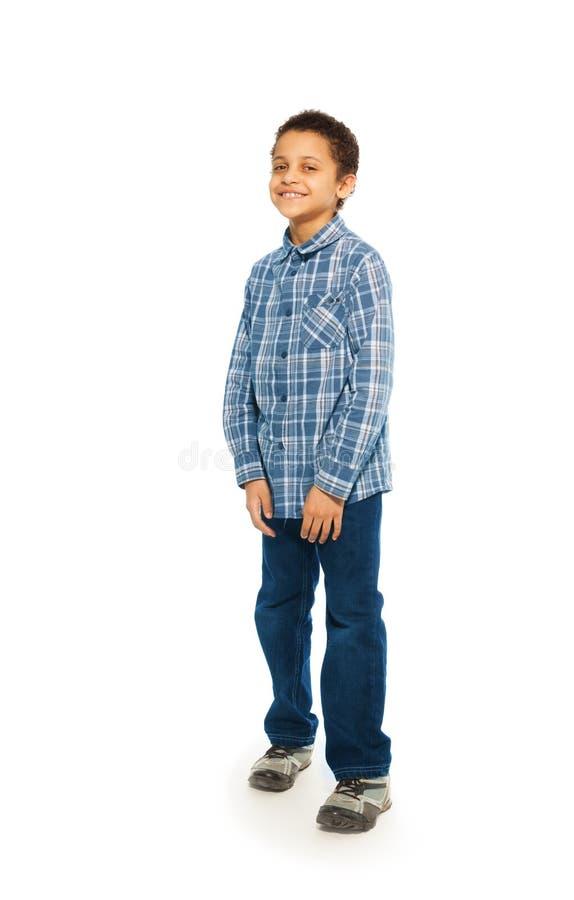Счастливый портрет 5 лет старого мальчика стоковая фотография rf