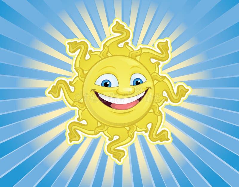 Сь Солнце смотрит на иллюстрация вектора