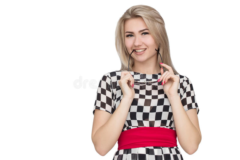 счастливые детеныши женщины стоковая фотография rf