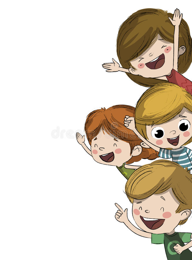 Счастливые дети иллюстрация вектора