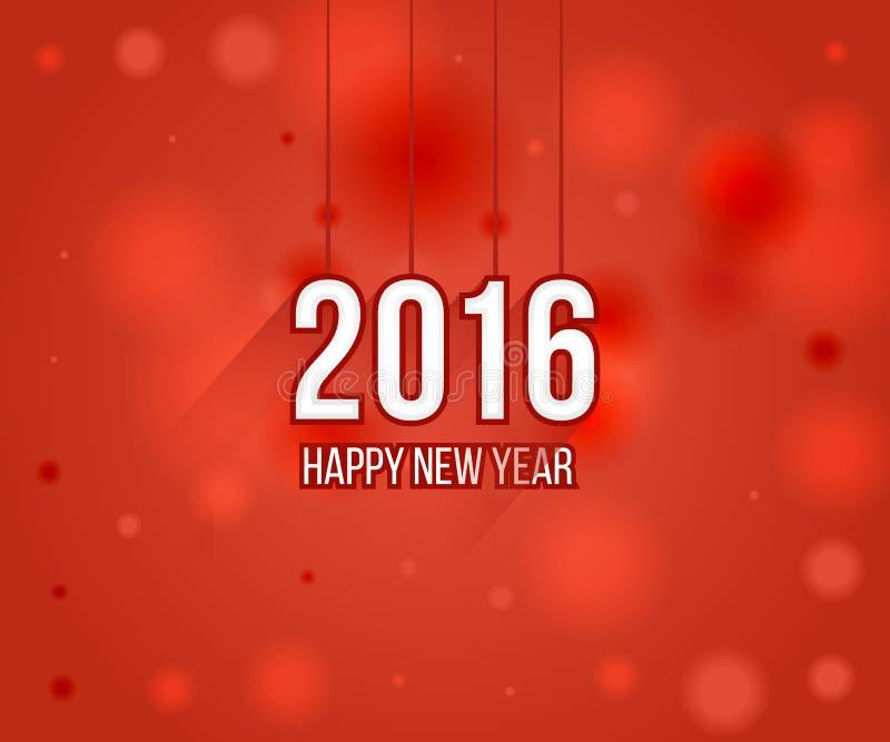 Счастливые дизайн поздравительной открытки Нового Года 2016 творческий бесплатная иллюстрация