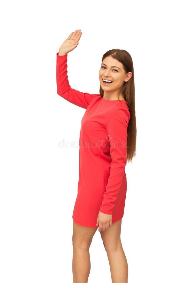 счастливые изолированные детеныши женщины стоковая фотография