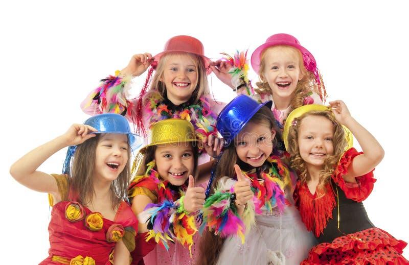 Счастливые красивые дети стоковая фотография rf