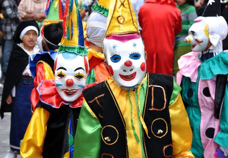 Счастливые клоуны стоковые изображения