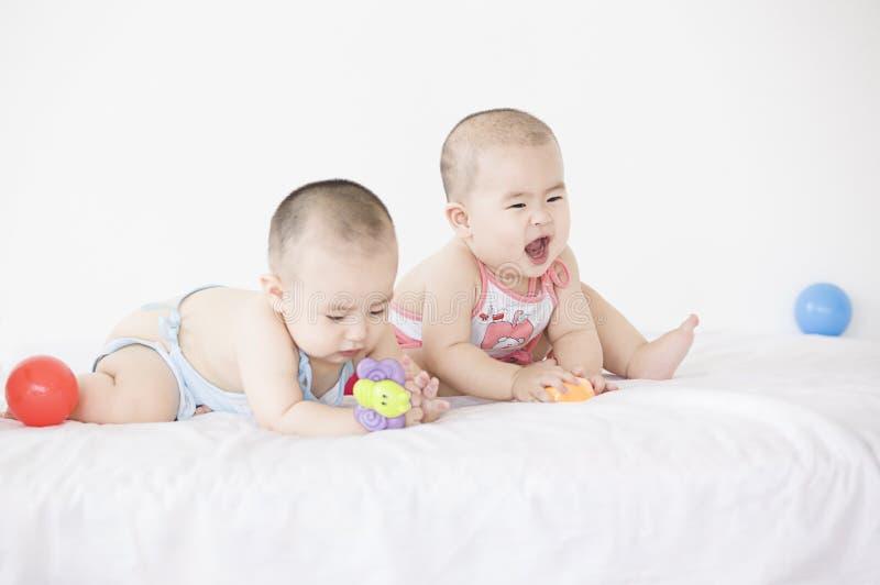 Счастливые младенцы стоковое фото rf